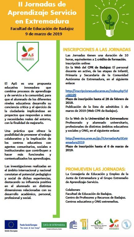 II - JORNADAS DE APRENDIZAJE SERVICIO EN EXTREMADURA
