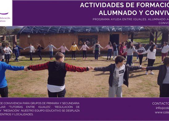 ACTIVIDADES DE FORMACIÓN AL ALUMNADO 2020. AYUDA ENTRE IGUALES. ALUMNADO ACOMPAÑANTE