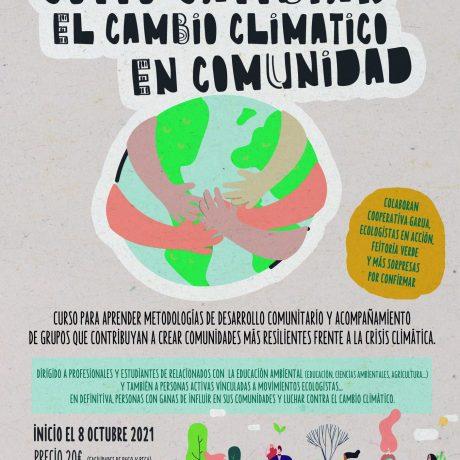 ABIERTAS LAS INSCRIPCIONES PARA EL CURSO SEMI-PRESENCIAL «CÓMO CAMBIAR EL CAMBIO CLIMÁTICO EN COMUNIDAD»