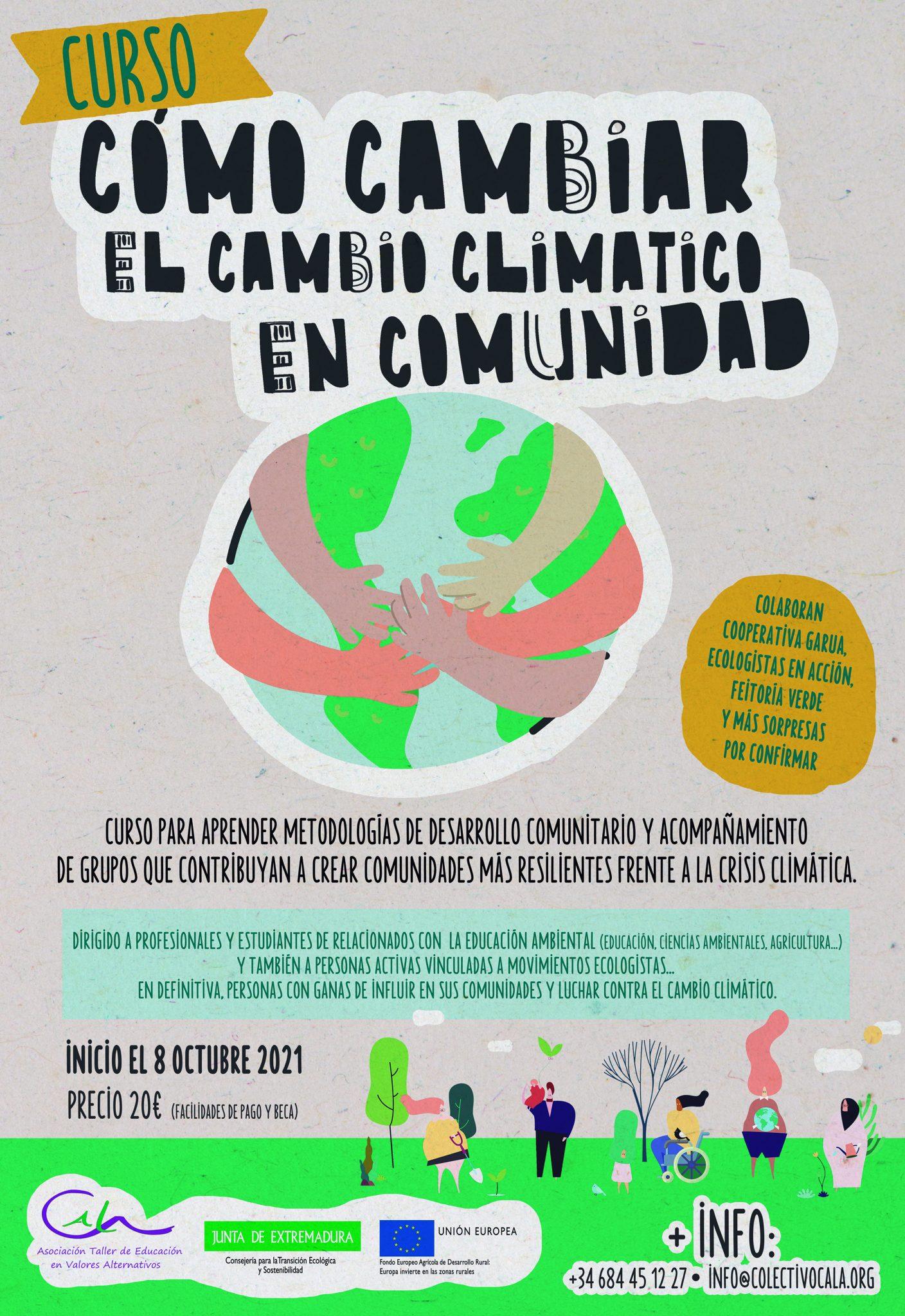 """ABIERTAS LAS INSCRIPCIONES PARA EL CURSO SEMI-PRESENCIAL """"CÓMO CAMBIAR EL CAMBIO CLIMÁTICO EN COMUNIDAD"""""""
