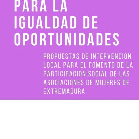 PROGRAMA DE ACTIVIDADES PARA LA IGUALDAD DE OPORTUNIDADES ENTRE HOMBRES Y MUJERES
